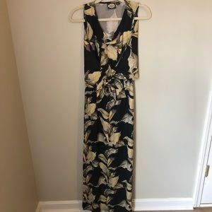 Tommy Bahama Black and Yellow Maxi Dress